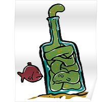 eel in a bottle Poster