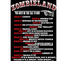 This tall to ride Zombieland - White Photographic Print