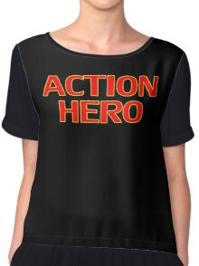 Action Hero -T-Shirt Sticker Chiffon Top
