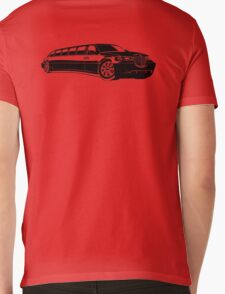 Cartoon limousine Mens V-Neck T-Shirt