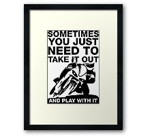 Take It Out And Play With It, Sport Bike Tee Shirt Framed Print