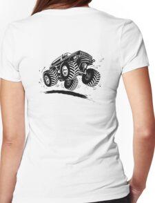 Cartoon monster truck Womens Fitted T-Shirt