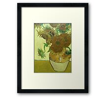 Sunflowers, Vincent van Gogh Framed Print