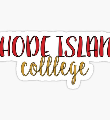 Rhode Island College Sticker