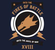 Into the Fires of Battle - Salamanders Kids Tee