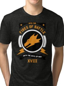 Into the Fires of Battle - Salamanders Tri-blend T-Shirt
