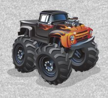 Cartoon monster truck Kids Tee