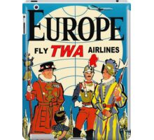 """""""TWA AIRLINES"""" Fly to Europe Advertising Print iPad Case/Skin"""
