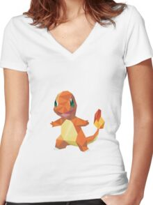 Charmender Women's Fitted V-Neck T-Shirt
