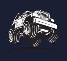 Cartoon Jeep Wrangler One Piece - Short Sleeve