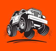 Cartoon Jeep Wrangler Kids Tee