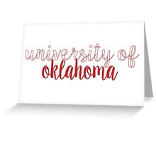 University of Oklahoma Greeting Card
