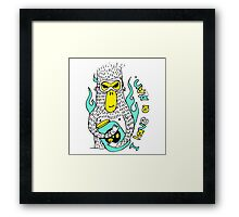 Evil genius monkey Framed Print