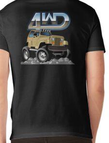 Cartoon Jeep Wrangler Mens V-Neck T-Shirt