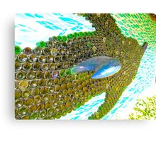 art with recycling - dolphin from bottles 2 Canvas Print