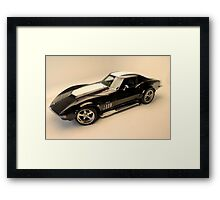 Tough 69 Corvette Framed Print