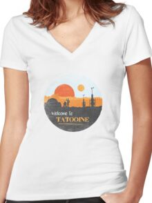 Welcome to Tatooine Women's Fitted V-Neck T-Shirt