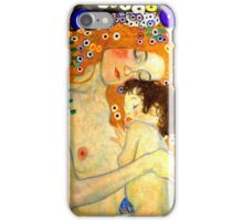 Mother and Child by Gustav Klimt Art Nouveau iPhone Case/Skin