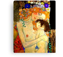 Mother and Child by Gustav Klimt Art Nouveau Canvas Print