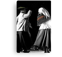 Argentinian Dancers In Andalucia, Colombia Canvas Print