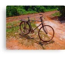 The bike with no seat Canvas Print