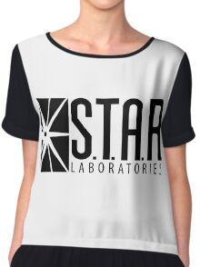 S.T.A.R. Laboratories | Black [HD] Chiffon Top