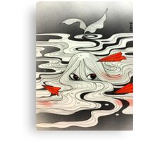 Red paper plane Canvas Print