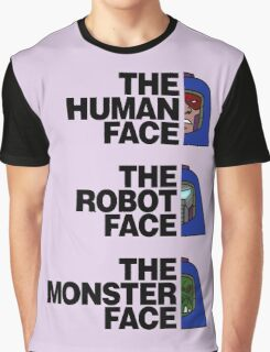 The North (Man-E) Face (Black Text) Graphic T-Shirt