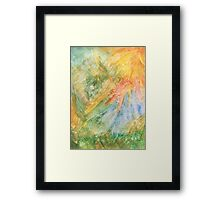 Rays of color Framed Print