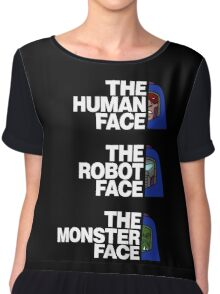 The North (Man-E) Face (White Text) Women's Chiffon Top
