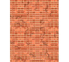 Pattern 022 FootPrints on red Bricks Photographic Print