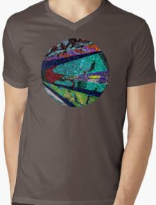 Peacock Mermaid Lavender Abstract Geometric Mens V-Neck T-Shirt