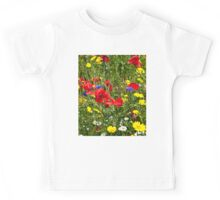 Colourful Wild Flowers Kids Tee