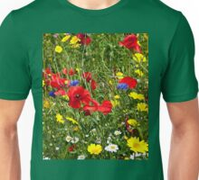 Colourful Wild Flowers Unisex T-Shirt