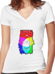 Yachica Mat-124 Women's Fitted V-Neck T-Shirt