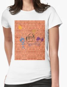Pattern 023 Bricks and Crayon Drawings  Womens Fitted T-Shirt