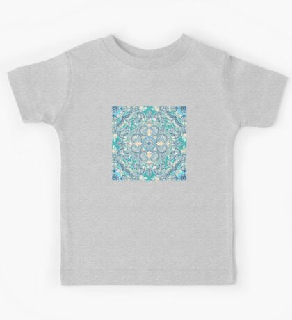 Gypsy Floral in Teal & Blue Kids Tee