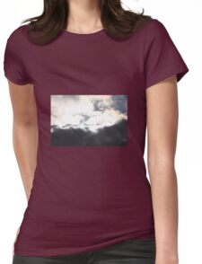 Light behind the dark Womens Fitted T-Shirt
