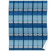 Pattern 024 Window Planes Blue Green Poster