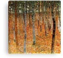 Beech Forest by Gustav Klimt Canvas Print