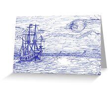 Piratenschiff Greeting Card