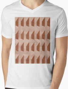 Pattern 025 Trapezoid Patterns Red Mulberry Mens V-Neck T-Shirt