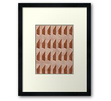Pattern 025 Trapezoid Patterns Red Mulberry Framed Print