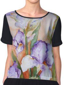 lavender Iris Chiffon Top