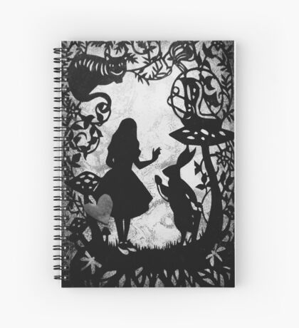 Alice Paper Cutout Mono Spiral Notebook