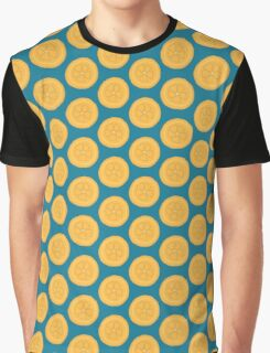 Orange Blue Summer Pattern Graphic T-Shirt