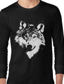 Blue Eyed White Wolf Long Sleeve T-Shirt