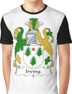 Irving Coat of Arms / Irving Family Crest Graphic T-Shirt