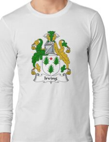 Irving Coat of Arms / Irving Family Crest Long Sleeve T-Shirt