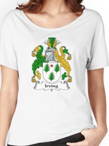 Irving Coat of Arms / Irving Family Crest Women's Relaxed Fit T-Shirt